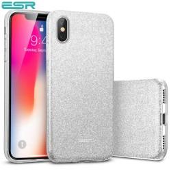 Carcasa ESR Makeup Glitter iPhone X, Silver