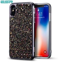 Carcasa ESR Glitter iPhone X, Black