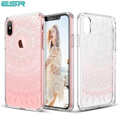 ESR Totem case for iPhone X, Pink Manjusaka