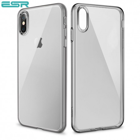 Husa slim ESR Eseential Zero iPhone X, Clear Black