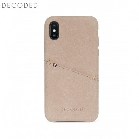 meet 5bdb0 cadf0 Decoded leather Back Cover for iPhone XS / X, Natural