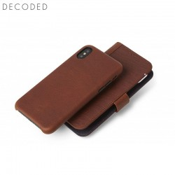 Decoded leather Detachable Wallet for iPhone XS, X, Brown