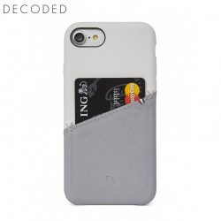 Carcasa piele Decoded Back Cover iPhone 8 / 7 / 6s / 6, White / Grey