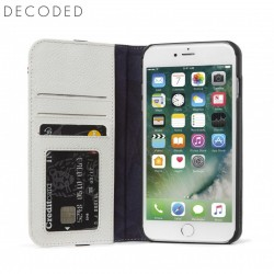 Carcasa piele Decoded Wallet Case iPhone 8 Plus, 7 Plus, 6s Plus, 6 Plus, White/Grey