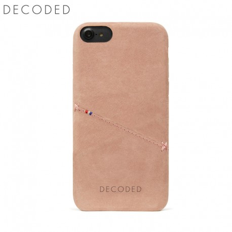 Decoded leather Back Cover for iPhone 8, 7, 6s, 6, Rose