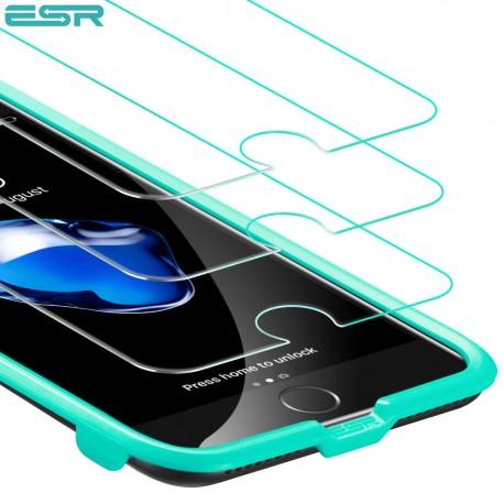 Folie sticla securizata ESR, Tempered Glass iPhone 8 / 7 / 6s / 6 (3 bucati)