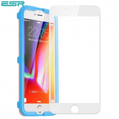 Folie sticla securizata ESR, Tempered Glass Full Coverage iPhone 6s Plus / 6 Plus, White Edge