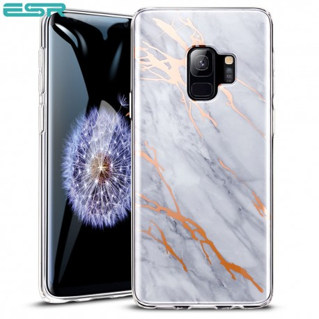 ESR Marble case for iPhone X, Gray Gold Sierra