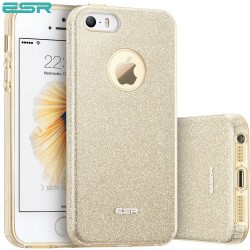 Carcasa ESR Makeup Glitter iPhone SE / 5s / 5, Champagne Gold