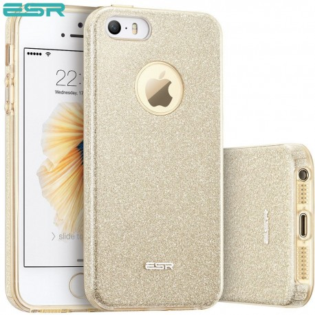 ESR Makeup Glitter case for iPhone SE / 5s / 5, Champagne Gold
