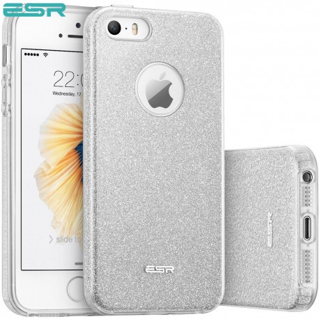 Carcasa ESR Makeup Glitter iPhone SE / 5s / 5, Maze Silver