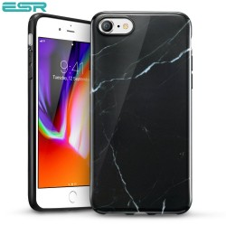 ESR Marble case for iPhone 8 / 7, Black Sierra