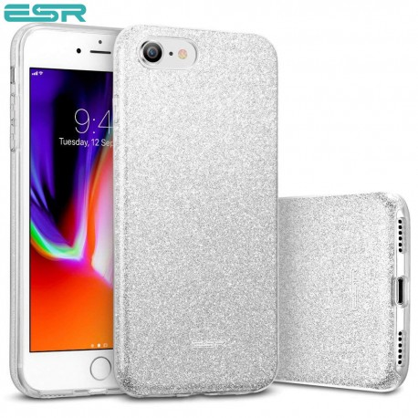 Carcasa ESR Makeup Glitter iPhone 8 / 7, Silver