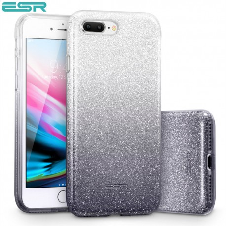 ESR Makeup Glitter case for iPhone 8 Plus / 7 Plus, Ombre Black