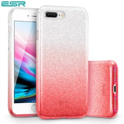 Carcasa ESR Makeup Glitter iPhone 8 Plus / 7 Plus, Ombre Pink