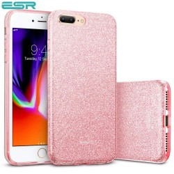 Carcasa ESR Makeup Glitter iPhone 8 Plus / 7 Plus, Rose Gold