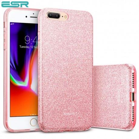 Carcasa ESR Makeup Glitter iPhone 8 Plus / 7 Plus, Rose Gold