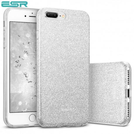 Carcasa ESR Makeup Glitter iPhone 8 Plus / 7 Plus, Silver