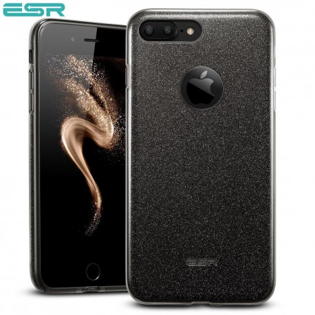 Carcasa ESR Makeup Glitter Sparkle Bling iPhone 8 Plus / 7 Plus, Black