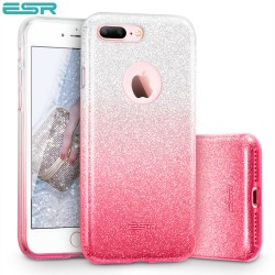 ESR Makeup Glitter Sparkle Bling case for iPhone 8 Plus / 7 Plus, Ombra Pink