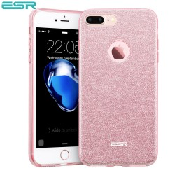 Carcasa ESR Makeup Glitter Sparkle Bling iPhone 8 Plus / 7 Plus, Rose Gold