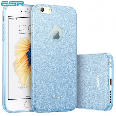 Carcasa ESR Makeup Glitter iPhone 6s / 6, Blue