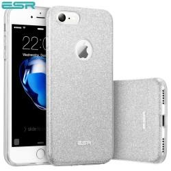 Carcasa ESR Makeup Glitter Sparkle Bling iPhone 8 / 7, Silver