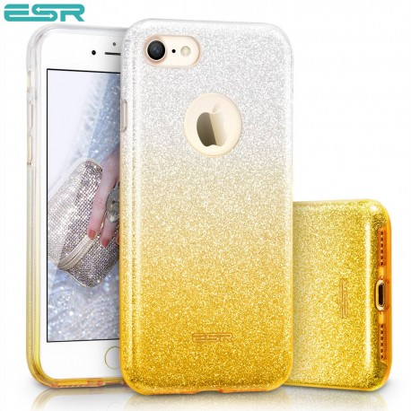 ESR Makeup Glitter Sparkle Bling case for iPhone 8 / 7, Ombra Gold