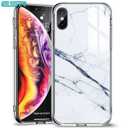 Carcasa ESR Mimic-Marble iPhone XS / X, White