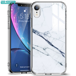 Carcasa ESR Mimic-Marble iPhone XR, White