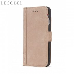 Leather wallet case with magnet closure for iPhone 8 / 7 / 6s Decoded rose