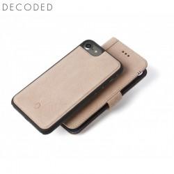 Husa piele 2in1 tip portofel, spate detasabil, inchidere magnetica iPhone 8 / 7 / 6s Decoded roz