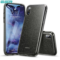 Carcasa ESR Makeup Glitter iPhone XS / X, Black