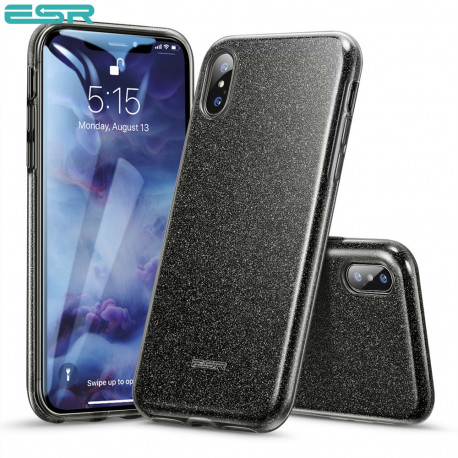 ESR Makeup Glitter case for iPhone XS / X, Black