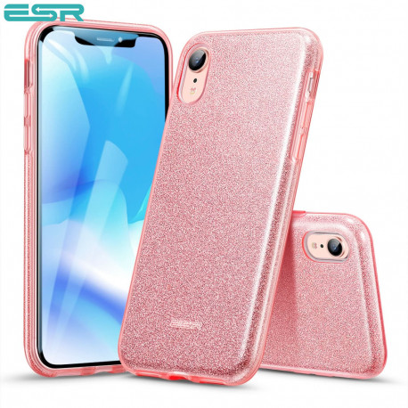 Carcasa ESR Makeup Glitter iPhone XR, Rose Gold