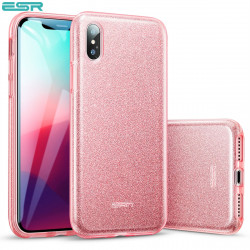 ESR Makeup Glitter case for iPhone XS Max, Rose Gold