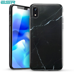 Carcasa ESR Marble iPhone XR, Black
