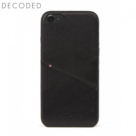 Leather back cover for iPhone 8 / 7 / 6s / 6 (4,7 inch) Decoded black