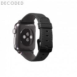 Curea din piele Decoded pentru Apple Watch seriile 1/2/3 (38mm) neagra