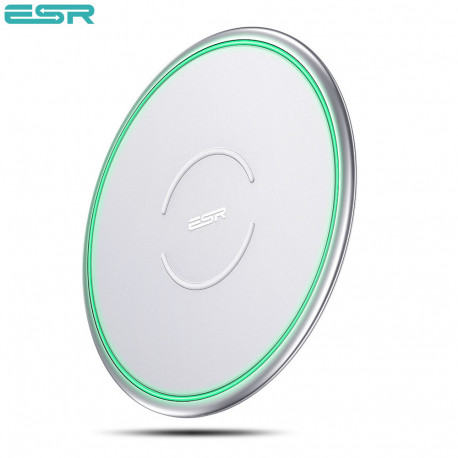 Incarcator universal ESR Tidal Metal-Frame Qi Wireless Charging, Silver
