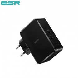 ESR Power Delivery (PD) Charger 41W, 1 USB-C + 2 USB-A, Black