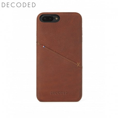 Husa piele capac spate pentru iPhone 8 Plus / 7 Plus / 6s Plus / 6 Plus (5,5 inch) Decoded maro