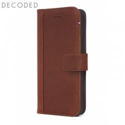 Husa piele tip portofel, inchidere magnetica iPhone XS / X Decoded maro