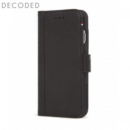 Leather wallet case with magnet closure for iphone 8 / 7 / 6s / 6 (4.7 inch) Decode black