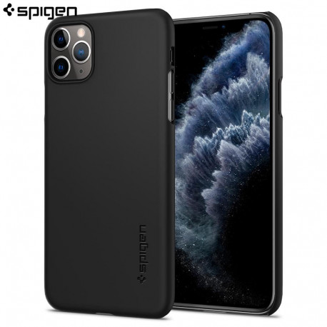 Husa slim Spigen iPhone 11 Pro Max Case Thin Fit, Black