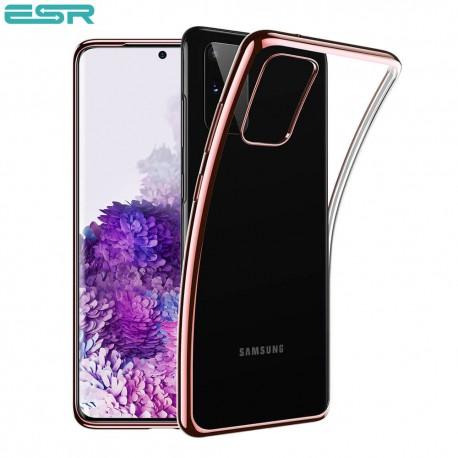 ESR Essential Crown Clear Thin Case for Galaxy S20 Plus, Rose Gold