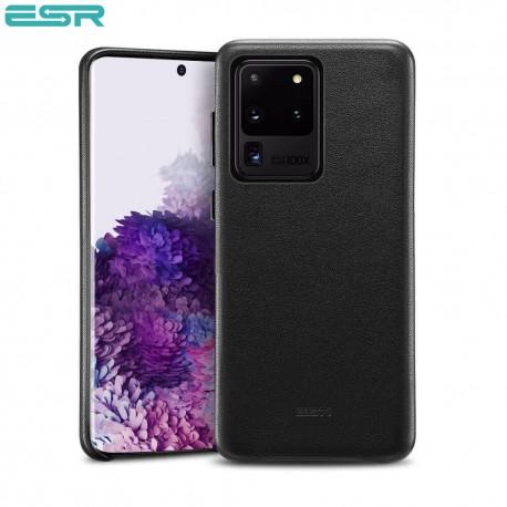 Carcasa ESR Metro Premium Leather Phone Case for Samsung Galaxy S20 Ultra, Black