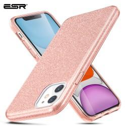 ESR Makeup Glitter case for iPhone 11, Coral