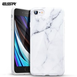 Carcasa ESR iPhone SE 2020 / 8 / 7 Marble Slim Soft Case, White