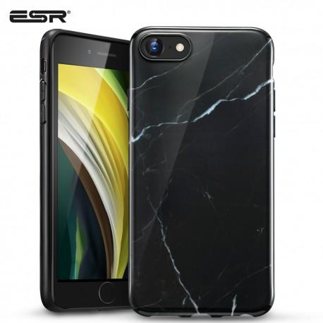 ESR iPhone SE 2020 / 8 / 7 Marble Slim Soft Case, Black